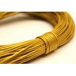 Lederband Gold
